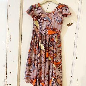 NWT 5/6 DotDotSmile Purple Paisley Dress